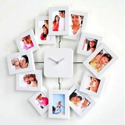Für weitere Info hier klicken. Artikel: Euratio CPS Foto-Uhr Elegance für 12 Fotos, aus Kunststoff, zum Hängen