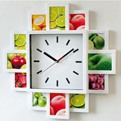 Für weitere Info hier klicken. Artikel: Euratio Foto-Uhr Bahnhof für 12 Fotos, aus Kunststoff, zum Hängen weiss