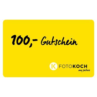 Für weitere Info hier klicken. Artikel: Foto Koch Geschenkgutschein 100 €