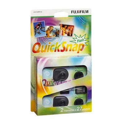 Für weitere Info hier klicken. Artikel: Fujifilm Quick Snap 400 27 Flash 2er Pack