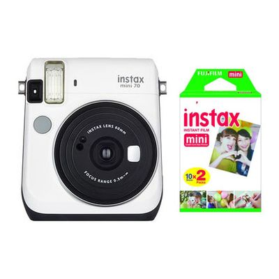 Für weitere Info hier klicken. Artikel: Fujifilm Fujifilm Instax mini 70EX D + Instax Mini Film DP 2x10 Aufnahmen weiss