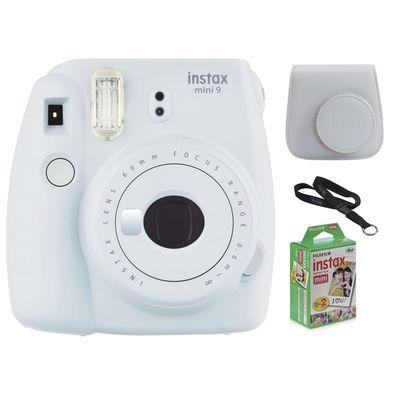 Für weitere Info hier klicken. Artikel: Fujifilm Instax Mini 9 Set ,Sofortbildkamera+Tasche+DP-Film+PH-Lanyard rauchweiss
