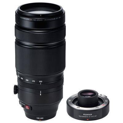 Für weitere Info hier klicken. Artikel: Fujifilm Objektivset XF 4.5-5.6/100-400 R LM OIS WR + Telekonverter XF1,4X TC WR Fujifilm X