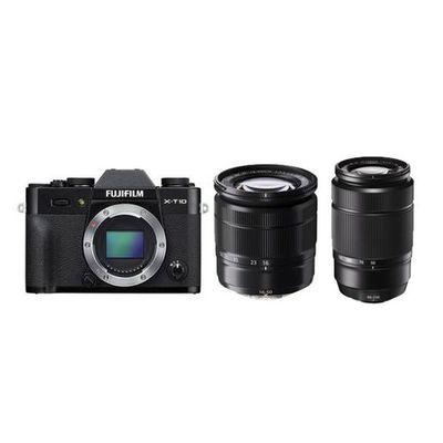 Für weitere Info hier klicken. Artikel: Fujifilm X-T10,AF 16-50 XC + 50-230 schwarz