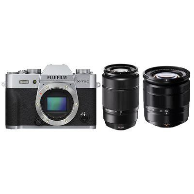 Für weitere Info hier klicken. Artikel: Fujifilm X-T20 + XC16-50mm II + XC50-230mm II Fujifilm X silber