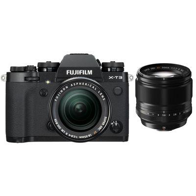 Für weitere Info hier klicken. Artikel: Fujifilm X-T3 mit XF18-55mm F2.8-4 R LM OIS + XF 1,2/56 R schwarz Fujifilm X