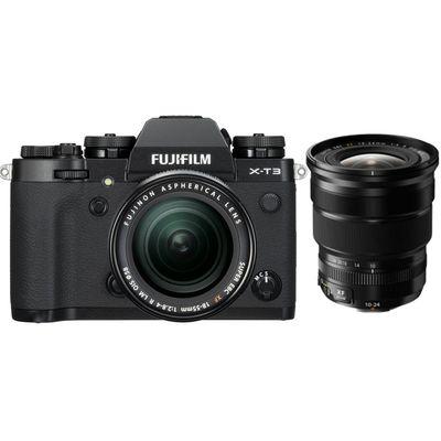 Für weitere Info hier klicken. Artikel: Fujifilm X-T3 mit XF18-55mm F2.8-4 R LM OIS + XF 4,0/10-24mm schwarz Fujifilm X