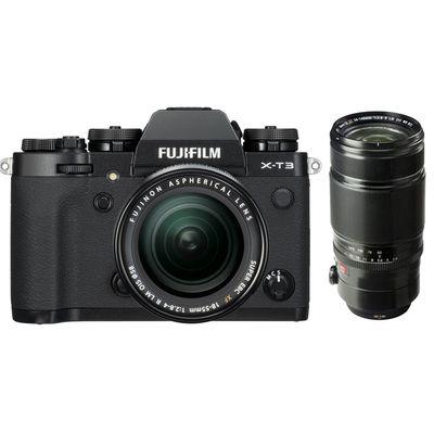 Für weitere Info hier klicken. Artikel: Fujifilm X-T3 mit XF18-55mm F2.8-4 R LM OIS + XF 2,8/50-140 R LM OIS WR schwarz Fujifilm X