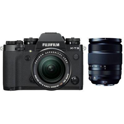 Für weitere Info hier klicken. Artikel: Fujifilm X-T3 mit XF18-55mm F2.8-4 R LM OIS + XF 3,5-5,6/18-135 R OIS WR schwarz Fujifilm X