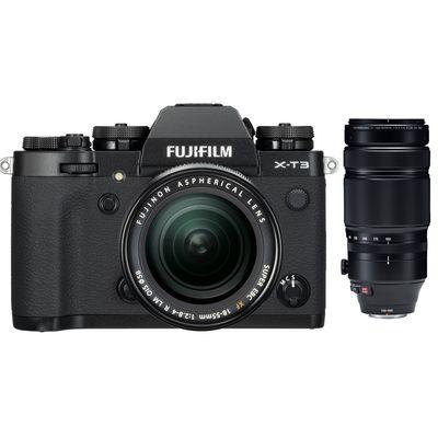 Für weitere Info hier klicken. Artikel: Fujifilm X-T3 mit XF18-55mm F2.8-4 R LM OIS + XF 4,5-5,6/100-400 RLM OIS WR schwarz Fujifilm X