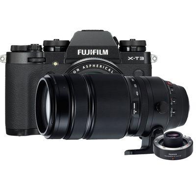 Für weitere Info hier klicken. Artikel: Fujifilm X-T3 mit XF18-55mm F2.8-4 R LM OIS + XF 4,5-5,6/100-400 RLM OIS WR + TC XF 1.4X WR schwarz Fujifilm X