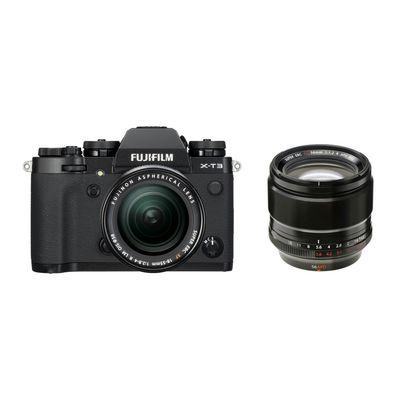 Für weitere Info hier klicken. Artikel: Fujifilm X-T3 mit XF18-55mm F2.8-4 R LM OIS + XF 1,2/56 R APD schwarz Fujifilm X