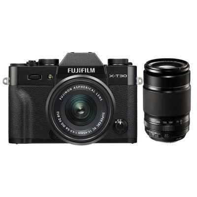 Für weitere Info hier klicken. Artikel: Fujifilm X-T30, XF 18-55 R LM OIS + XF 55-200mm f/3,5-4,8 R LM OIS schwarz Fujifilm X