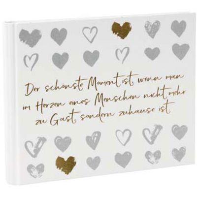 Für weitere Info hier klicken. Artikel: goldbuch Foto-Gästebuch love memories 50 weiße Seiten 29x23