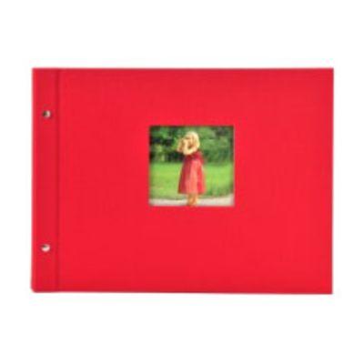 Für weitere Info hier klicken. Artikel: goldbuch Schraubalbum Bella Vista mit Fenster 39x31 40 weiße Seiten rot