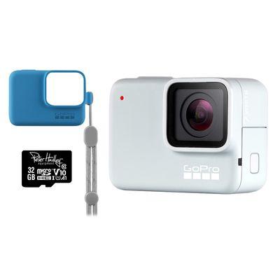 Für weitere Info hier klicken. Artikel: GoPro Hero7 White Special Edition Actioncam+ Sleeve + Peter Hadley 32GB microSD blau