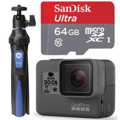 Für weitere Info hier klicken. Artikel: GoPro Hero6 Black + Benro BK10 Selfie-Stick+ microSDXC Ultra Class 10, UHS-I, 80MB/s 64GB