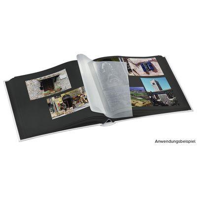 Für weitere Info hier klicken. Artikel: Hama Jumbo-Album La Fleur, 30x30 cm, 100 schwarze Seiten Weiß