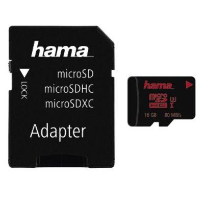 Für weitere Info hier klicken. Artikel: Hama microSDHC UHS Speed Class 3 UHS-I 80MB/s + Adapter/Foto 16GB