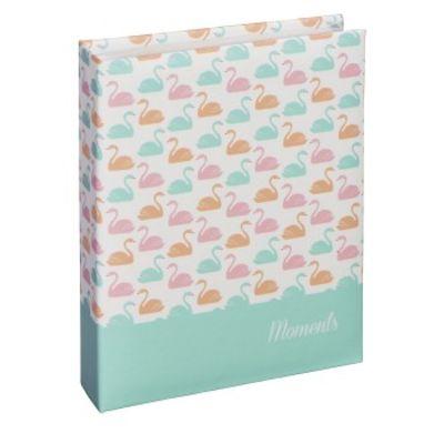 """Für weitere Info hier klicken. Artikel: Hama Mini-Einsteck-Album Swan"""", für 40 Fotos im Format 10x15 cm pastell"""