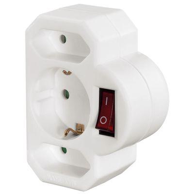 Für weitere Info hier klicken. Artikel: Hama Multistecker, 3fach, 2 Euro1 Schutzkontakt-Steckdose, mit Schalter weiß