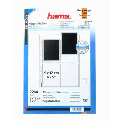 """Für weitere Info hier klicken. Artikel: Hama Negativhüllen Perg. 9x12/4x5"""" 25 Bl."""