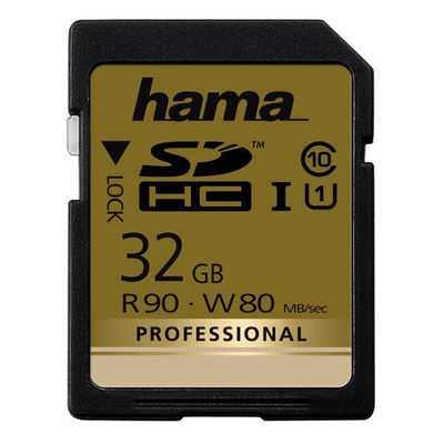 Für weitere Info hier klicken. Artikel: Hama SDHC-Card Professional Cl.10 32 GB