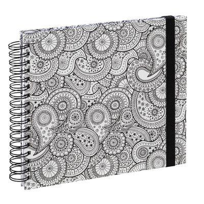 Für weitere Info hier klicken. Artikel: Hama Spiral-Buch Colorare, 28x24 cm, 50 weiße Seiten Paisley