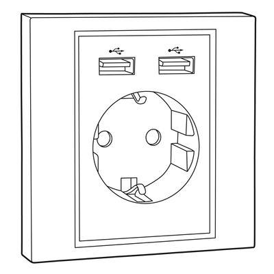Für weitere Info hier klicken. Artikel: Hama Unterputzsteckdose mit zwei USB-Anschlüssen