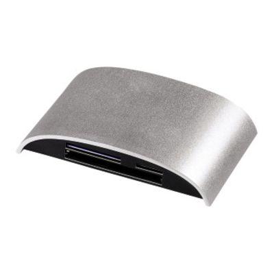 USB-3.0-Multikartenleser Pro, SD/microSD/CF/MS/xD, Alu, Silber