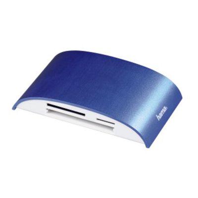 USB-3.0-Multikartenleser Pro, SD/microSD/CF/MS/xD, Alu, Blau