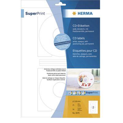 Für weitere Info hier klicken. Artikel: Herma CD/DVD Etiketten SuperPrint