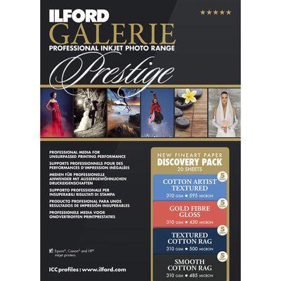 Für weitere Info hier klicken. Artikel: Ilford Duckerpapier GALERIE Prestige Discovery Pack 38 Blatt A4