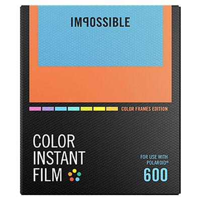 Für weitere Info hier klicken. Artikel: Impossible Sofortbildfilm color 600 mit 8 verschiedenfarbigen Rahmen