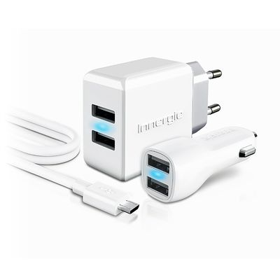 Für weitere Info hier klicken. Artikel: Innergie Ladegerät 15W wall Charger + 10W Car charger both with 2 USB ports + micro USB cable