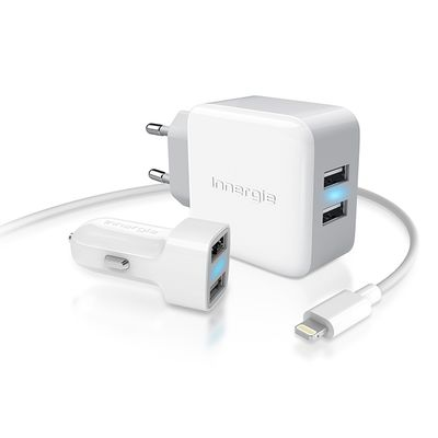 Für weitere Info hier klicken. Artikel: Innergie Ladegerät 21W wall + Car Charter with 2x2.1A USB Ports + Lightning cable