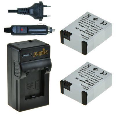 Für weitere Info hier klicken. Artikel: Jupio Akku 2x Battery GoPro AHDBT-302 HERO3+ 1200 mAh + Charger für GoPro Kit
