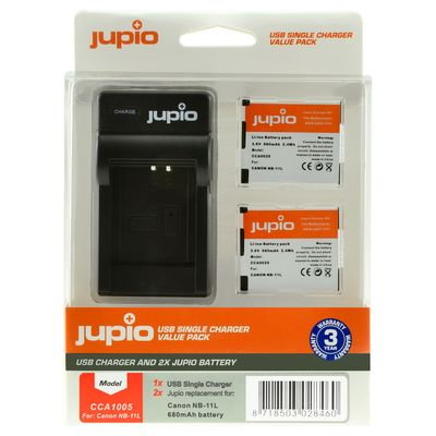 Für weitere Info hier klicken. Artikel: Jupio Akku Canon Jupio Kit: 2x Battery NB-11L + USB Single Charger