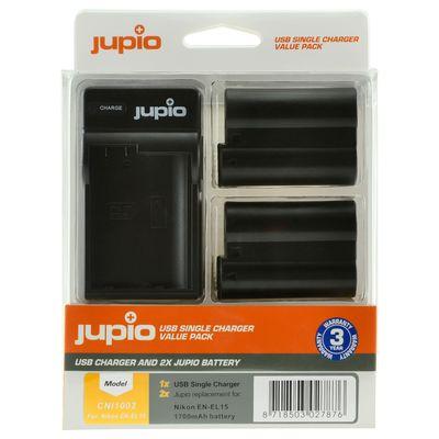 Für weitere Info hier klicken. Artikel: Jupio Akku Nikon Jupio Kit: 2x Battery EN-EL15 1700mAh + USB Single Charger