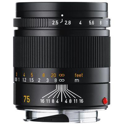 Für weitere Info hier klicken. Artikel: Leica Summarit-M 2,5/75 schwarz Leica M