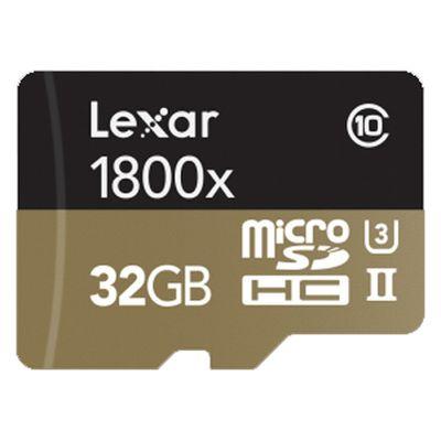 Für weitere Info hier klicken. Artikel: Lexar micro SD Professional 1800x UHS-II inkl. USB 3.0 Lesegerät 32 GB