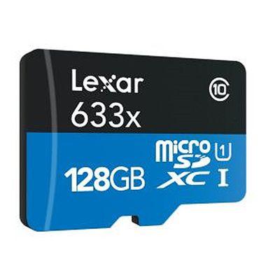 Für weitere Info hier klicken. Artikel: Lexar micro SD UHS-1 633x (Class 10) mit SD-Kartenadapter 128 GB