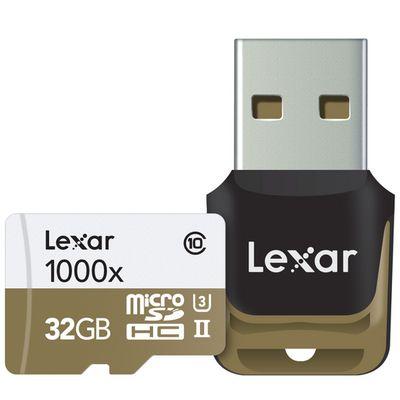 Für weitere Info hier klicken. Artikel: Lexar micro SD UHS-II 1000x inkl. USB 3.0 Lesegerät 32 GB