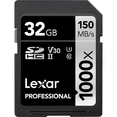 Für weitere Info hier klicken. Artikel: Lexar Professional SD-Card 1000x UHS-II, U3, V30, 150MB/s 32 GB