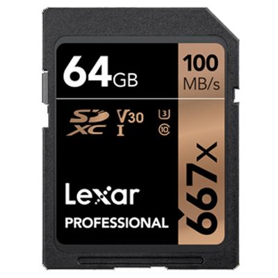 Für weitere Info hier klicken. Artikel: Lexar Professional SDXC-Card 667x UHS-I, U3, V30, 100MB/s 64 GB