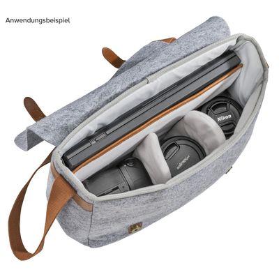 Für weitere Info hier klicken. Artikel: Mantona Messenger Kameratasche aus Filz