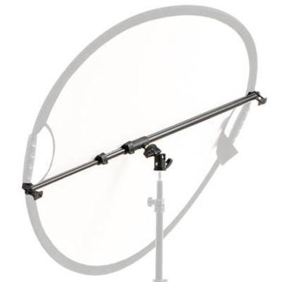 Für weitere Info hier klicken. Artikel: Matin Reflektorhalter mit Kugelkopf 56-136 cm - für Faltreflektor zwischen 53 und 133 cm