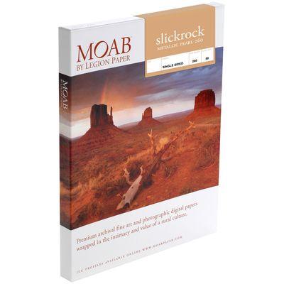 Für weitere Info hier klicken. Artikel: Moab Slickrock Metallic Pearl 260 A4 25 Blatt