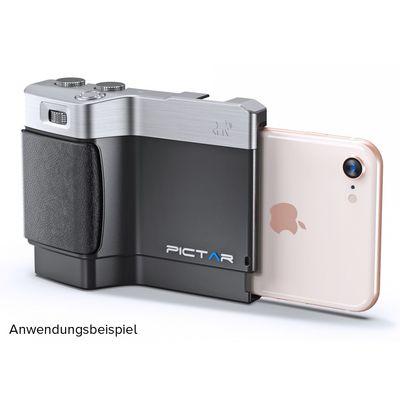 Für weitere Info hier klicken. Artikel: MyMiggö Smartphone Camera Grip Pictar One Mark II - silber-schwarz