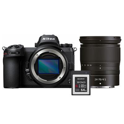 Für weitere Info hier klicken. Artikel: Nikon Z6 + Nikkor Z 24-70mm f/4,0 S + 64GB XQD Karte